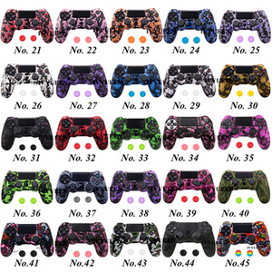45 colores Funda protectora de silicona anti deslizamiento para Sony PlayStation 4 PS4 DS4 Pro Slim Controller Thumb GRIP CAPS