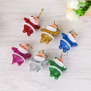 6pcs Xmas Tree Hanging Christmas Snowman Tree Hanging Ornaments Gift Santa Claus Reindeer Navidad Toy Doll Hang Decorations