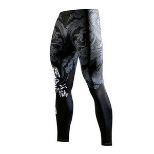 ZRCE 3D stile cinese 3d stampa palestra gym leggings traspirante rapido asciugatura anti-pilling uomo pantaloni yoga bodybuilding pantaloni 1120