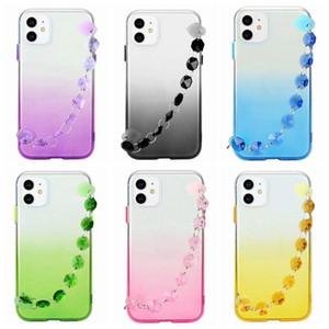 Bling Diamond Bracte Bracte Crystal Градиент TPU Чехол для iPhone 11 Pro Max XS MAX XR XR X 8 7 6 SE 2020 Мягкий прозрачный гель Двухцветная крышка