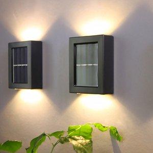 6PCS LED Wall Light Outdoor Waterproof IP65 Porch Garden Wall Lamp & Indoor Bedroom Bedside Decoration Lighting Solar Lamps Dropship