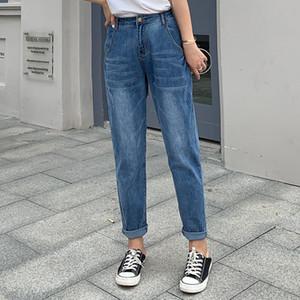 Jeans décontractés en jean lâche taille haute Plus Taille L-8XL Casual Femmes Pantalons Mince Coton Carrot Pantalon de mode