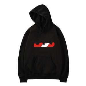 Дизайн Новый Модный Письмо Печатный Пуловер Пуловер С Длинным Рукавом Осень Зима Черные Серые Белые Мужские Толстовки