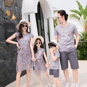 Family matching clothes father mother daughter son mom mommy and me beach dress tshirts pants couple family look wear outfit