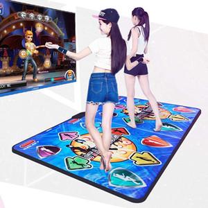 Double Dancing Mat غير زلة الرقص خطوة الحسية لعبة حصيرة الرقص + 2 تحكم عن بعد + لعبة استقبال لاسلكية بطانية