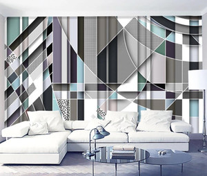 3D Wallpaper Modern Minimalist Abstract Stereo Fresh Few Square Photo Wall Murals Living Room Bedroom Home Decor Wall Papers