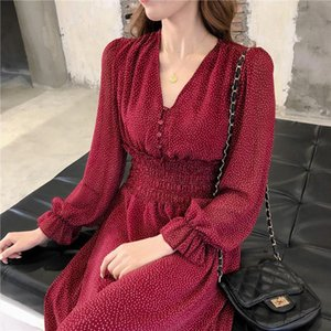 Blla party oversized woman winter elegant evening ladies dress 2020 spring autumn chiffon v neck long dress female