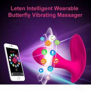 Leten conectar borboleta brinquedos inteligentes vibrador controle g-spot wearable vibrador bluetooth clitoral remoto sexo 17605 para mulheres app acicr
