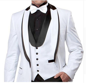 Custom Made Groomsmen Shawl Lapel Groom Tuxedos One Button Men Suits Wedding Prom Dinner Best Man Blazer ( Jacket+Pants+Tie+Vest ) K824