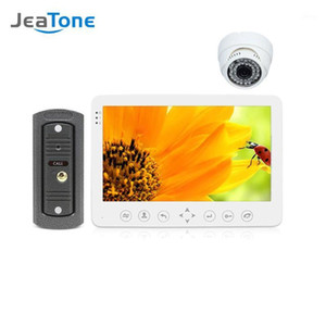 JeaTone 7''HD Wired Intercom for Home Video Doorbell Monitor IR Night Vision Motion Sensor for Home Security+1200TVL indoor Cam1