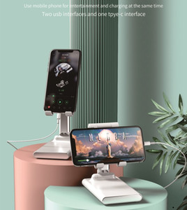Min.1set Tablets & Cell Phone Holder Smart Phone Stand Adjusted Height & Angle With 6000mAh Power Bank Support Max 12.9 Inch Device