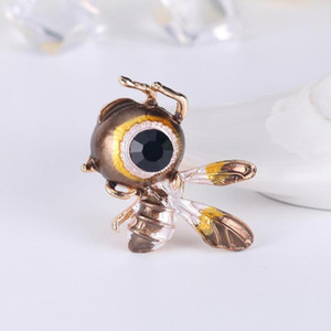 10pcs Rhinestone Bee Brooches for Women Fashion Insect Brooch Pin Enamel Winter Coat Accessories High Quality New