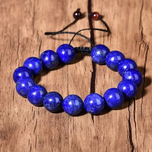 Blue Lazurite Quartz Bracelet Reiki Lapis lazuli Fashion Healing Crystal Beads