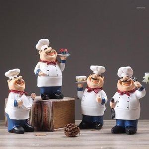 Resina Chef Restaurante Chef Statue Home Cozinha Ornamento Figurine Table Decor Welcome1