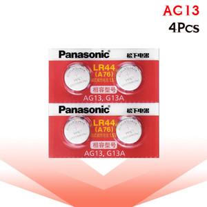 Panasonic 4pcs 1.5v Zinc Ag13 Lr 44 Lr44 Button Coin Cell Watch Clock Laser Pointer Scale Batteries Gp76 Gpa76 L1154 Sr44 Sr44w sqciXr