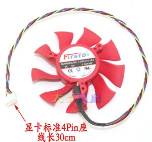 Ggraphics için orijinal Video Kartı Soğutma Fanı FD8015U12S 12 V 0.50App Pitch 39mm Çapı 75mm 3Lines 4lines