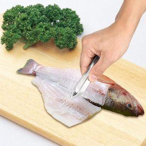 1 ADET Paslanmaz Çelik Balık Kemik Cımbız Pincer Klip Çektirme Remover Maşa Balık Kemik Kepçe Kelepçe Mutfak Gadgets Araçları EWF4043
