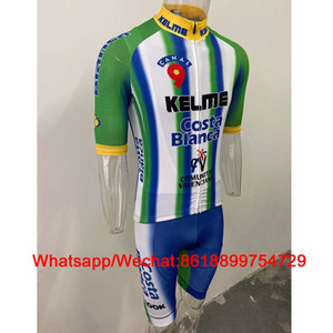 Aero Cycling Jersey Suit Kelme Green Short Sleeve Kit Summer Shirts Pro Team Bike Maillot Set Bib Shorts 9d Gel Pad Ciclismo Ropa Conjunto