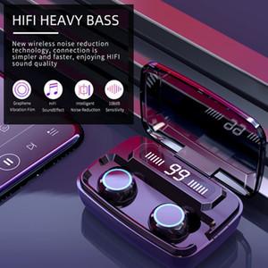 TWS Bluetooth 5.0 Earphones 2200mAh Charging Box Wireless Headphone Stereo Sports Waterproof Earbuds Headsets With Microphone