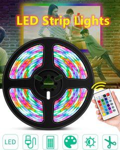RGB Светодиодная полоса Света DC 5V 1M / 2M / 3M / 4M / 5M Водонепроницаемый RGBW Полоски Светодиодная лампа Гибкая лента Крытый спальня Телевизор Подсветка освещения