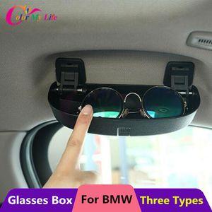 Color My Life Car Glasses Case Box for BMW 1 2 3 5 Series E90 E91 F30 F31 F34 320 328 F07 F10 F11 F48 520 528 X1 X3 X5 Parts 201104