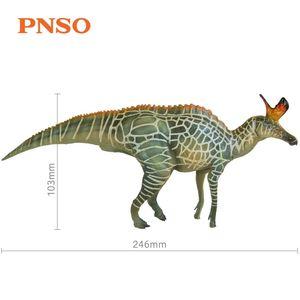 New Arrival PNSO Dinosaurs Audrey The Lambeosaurus Toy Prehistoric Animal Model Dino Classic Toys For Boys Children Gift