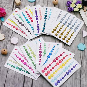 Etiqueta de los puntos del esmalte 13 unids Scrapbooking Sparkle Glitter Pegatinas Sprinkles de azúcar Etiqueta de resina de esmalte autoadhesivo 2020 Nuevo Z1210