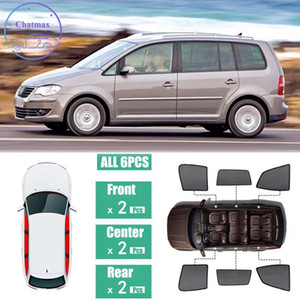 Hilo NETO NEGRO PARA VOLKSWAGEN VW TOURANO 2006-2015 Ventanas laterales Sombra Magnética Sombra UV Protección Ray Bloqueo de Malla Visera