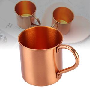 Copper puro de cobre Cup Coppery Coppery Handcrafted Durável Moscovo Copo de Cocktail para Restaurante Bar Bebida Cozinha Festa F1217