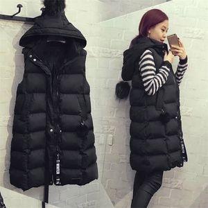 Fashion Womens Waistcoat Vests Plus Size Hoodie Gilet Jacket Coat Outwear Female Sleeveless Warm Windproof Vest Colete Feminino 201214