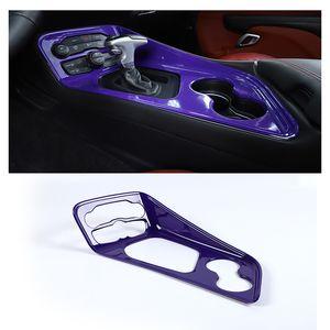 Lila ABS-Schalttafel-Verkleidungs-Deckungsabdeckung für Dodge Challenger 2015 Up Auto Interior Zubehör,