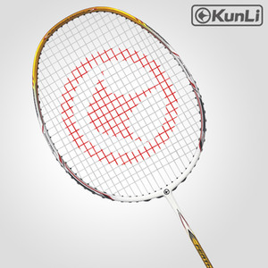 Original Kunli oficial badminton 5u 80g pena k330 profissional carbono profissional ultra luz ataque raquete Z1202