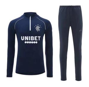 2020 2021 Glasgow Rangers FC Erkekler Eşofman Futbol Eğitim Takım 20 21 Defoe Hagi Morelos Tavernier Rangers Futbol Ceket Tracksuit Jogging