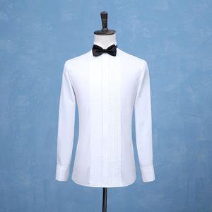 Nouveau Mode Groom Tuxedos Chemises Best Homme GroomsMen Blanc Blanc Black ou Red Hommes Chemises de mariage Occasion Formelle Hommes Chemises 201123