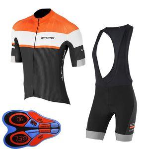 Capo Team 2019 Hommes Cyclisme Jersey Costume Summer Respirant Séche rapide Sèche À Manches courtes Chemise à vélos Bibelot Set Set Bicycle Vélo Uniforme Y102504