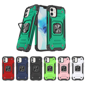 Phone Case Anti drop mobile phone protection case CD pattern car bracket mobile phone case