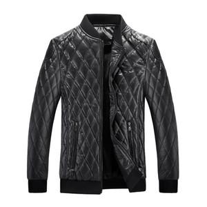 New Arrival Leather Jacket Men Winter Fleece Lining Motorcycle Men's Leather Coats Male Baseball Collar Jackets Outerwear MY317