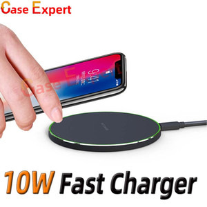 10W Fast QI Certified Wireless Charger for iPhone 12 Pro Max XR XS Samsung S21 Ultra with Retail Package