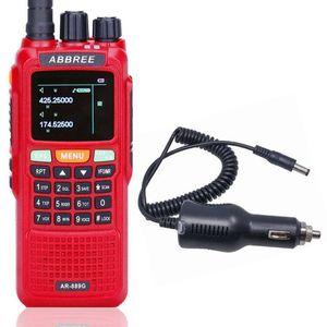 Walkie Talkie ABBREE AR-889G GPS 10Watts Night Backlight Duplex Dual Band Receiving Ham Two Way Radios+Car Charger