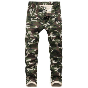 Ropa Hombre 2021 Mens New Camouflage Jeans Fashion Slim Fit Male Denim Trousers Hip Hop Plus Size Skinny Mannen Jeans Man Pants