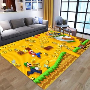 Cartoon 3D Anime Super Mario pattern Carpets for Living Room Bedroom Large Area Carpet Kids play Floor Mat Child Game Area Rugs