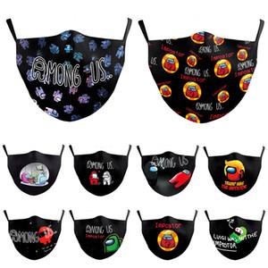 Entre os EUA Máscara Facial Designer Mask Máscara Impresso Máscaras Personalizado Feito Adulto Anti-Haze Proteção à prova de poeira Unisex Cosplay Máscara