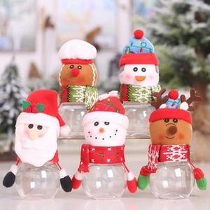 Jar Children Kids Cute Storage Bottle Santa Christmas Sweet Gift Chocolate Candy Box Lovely Home Decor DHF2987