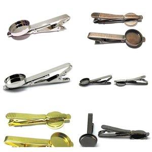 Бисеры Мужские Ювелирные Изделия Персонализированные галстуки CLIP DIY TILE CLIPS с круглым базовым галстуком Клипные выводы смолы Эпоксидные пробелы ID 32261 KX1AA