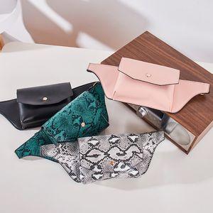 Serpentine Fanny Pack packs luxury handbags Ladies PU Leather Waist Belt Bag women designer chest purse Q1119