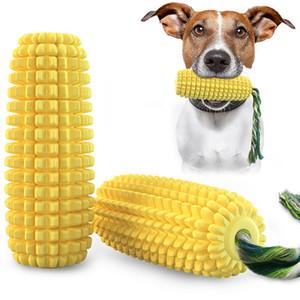 Cachorro Milho Molar Pet Treinamento de Pet Dothbrush com Cão de Algodão Cachorrinho Cão Molar Stick Chew Brinquedos Dha3086