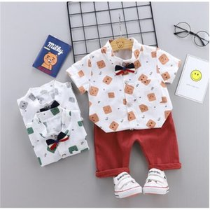 Boys summer suit 2019 new children's short sleeve summer two-piece set 1-2-3 years old baby children's shirt clothes