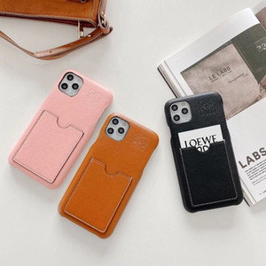 Women Fashion real leather card bag Iphone12 X Xmax Cell Phones Case beauty 8plus max Luxury mobile casings Popular gift Mobile Case