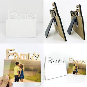 Woodiness Sublimation Leere Frames MDF DIY Dreidimensionale Aushöhlung Blanker Schieferbuchstaben Form Laserschneiden Home Zubehör 7 1BD M2