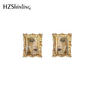 2020 Новые винтажные Gustav Klimt картины Мать и ребенок Золотые слезы Kiss Print Glass Cabochon Ювелирные Изделия Ретро Серьги